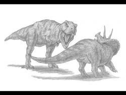 Как нарисовать двух динозавров карандашом видео урок