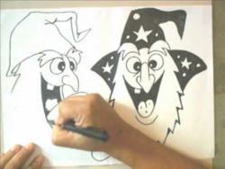 Как нарисовать двух веселых монстров в стиле граффити видео урок