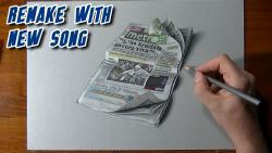 Как нарисовать газету Метро в 3D видео урок