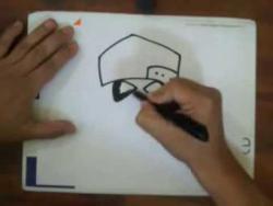 Как нарисовать газовую маску в кепке видео урок
