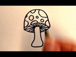 Как нарисовать гриб ребенку видео урок