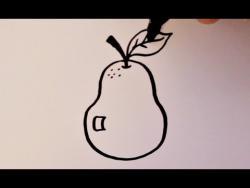 Как нарисовать грушу ребенку видео урок
