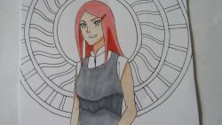 Как нарисовать и раскрасить Кушина Узумаки из Наруто видео урок