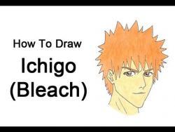 Как нарисовать Ичиго Куросаки из Блич видео урок