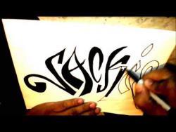 Как нарисовать имя Jackie (Джеки) в стиле граффити видео урок