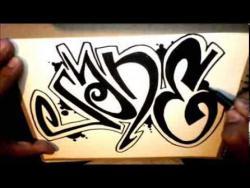 Как нарисовать имя Jane (Джейн) в стиле граффити видео урок
