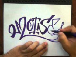Как нарисовать имя Moise (Моис) в стиле граффити видео урок