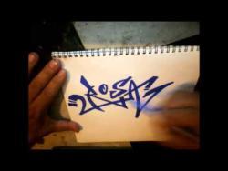 Как нарисовать имя Rosa (Роза) в стиле граффити видео урок