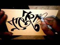 Как нарисовать имя Теrmi (Терми) в стиле граффити видео урок