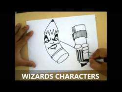 Как нарисовать карандаш в стиле граффити видео урок