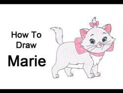 Как нарисовать кошечку Мари из мультфильма Коты-аристократы видео урок