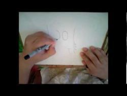 Как нарисовать кота с большими зубами в стиле граффити видео урок