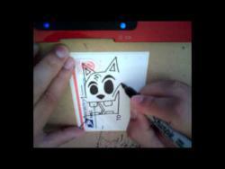 Как нарисовать кота в стиле граффити видео урок