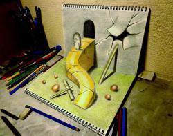 Как нарисовать крутой 3D спуск из пещеры видео урок