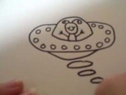 Как нарисовать летающую тарелку ребенку видео урок