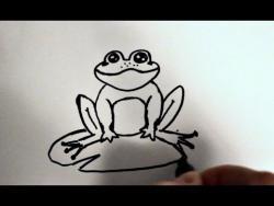 Как нарисовать лягушку на кувшинке ребенку видео урок