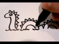 Как нарисовать лохнесское чудовище ребенку видео урок