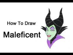 Как нарисовать Малефисенту из Спящей красавицы видео урок