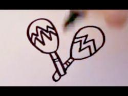 Как нарисовать маракасы ребенку видео урок