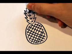 Как нарисовать маркером ананас ребенку видео урок