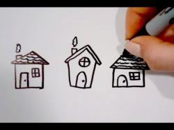 Как нарисовать маркером домики ребенку видео урок