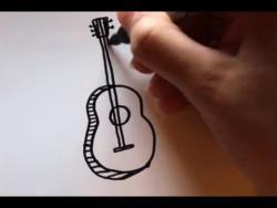Как нарисовать маркером гитару ребенку видео урок