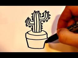 Как нарисовать маркером кактус ребенку видео урок