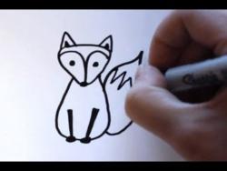 Как нарисовать маркером лису ребенку видео урок