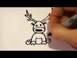 Как нарисовать маркером оленя ребенку видео урок