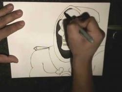 Как нарисовать маркером смерть в стиле граффити видео урок