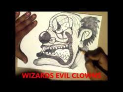 Как нарисовать маркером злого клоуна в стиле граффити видео урок