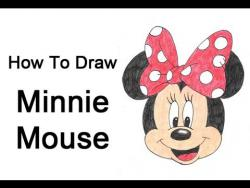 Как нарисовать Минни Маус поэтапно видео урок