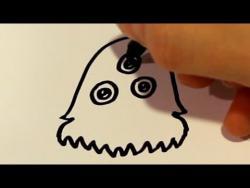 Как нарисовать монстра ребенку видео урок