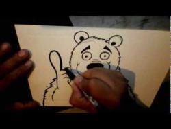 Как нарисовать мультяшного медведя в стиле граффити видео урок