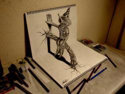 Как нарисовать на бумаге 3D эльфа видео урок