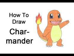 Как нарисовать на бумаге  Charmander (Чармандера) из мультфильма Покемоны видео урок