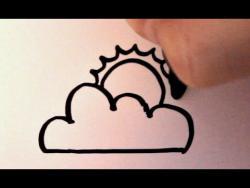 Как нарисовать облако и солнце ребенку видео урок