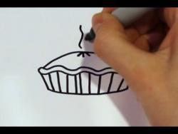 Как нарисовать пирог ребенку видео урок