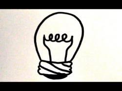 Как нарисовать лампочку ребенку видео урок