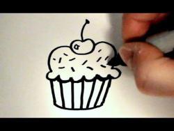 Как нарисовать пирожное ребенку видео урок