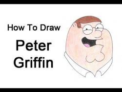 Как нарисовать Питера Гриффина из мультфильма Гриффины поэтапно видео урок