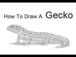 Как нарисовать пятнистого леопардового эублефара видео урок