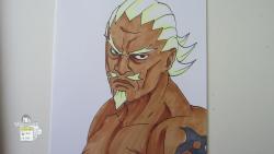 Как нарисовать Райкаге из Наруто видео урок