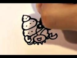 Как нарисовать рака-отшельника ребенку видео урок