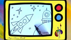 Как нарисовать ракету в космосе ребенку видео урок