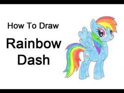Как нарисовать Рейнбоу Дэш из мультфильма Мой маленький пони поэтапно видео урок