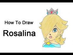 Как нарисовать Розалину из серии игр про Марио видео урок