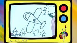 Как нарисовать самолет ребенку видео урок