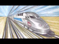 Как нарисовать скоростной поезд видео урок