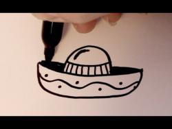 Как нарисовать сомбреро ребенку видео урок